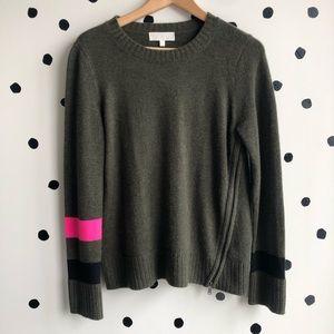 Lisa Todd Sneak Peek Cashmere Sweater Kale Green S